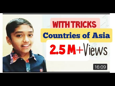 Countries of Asia easy way to learn: Learn with Amar