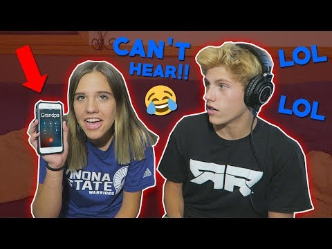 HILARIOUS PRANK CALLING PEOPLE BUT WE CAN'T HEAR THEM!!
