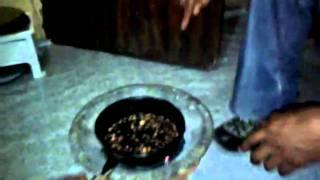 20110425 Ethiopia Chalachew  Gondar Tours 8 - Home Making Coffee.3gp
