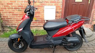 5. Brief look at my restricted Kymco Agility 50 scooter.