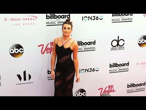 Lea Michele Stuns In A Sexy Semi-Sheer Dress In Las Vegas