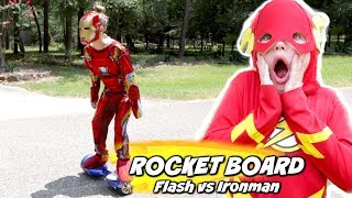 Video The Rocket Board: Flash vs Ironman Race games Edition MP3, 3GP, MP4, WEBM, AVI, FLV November 2018