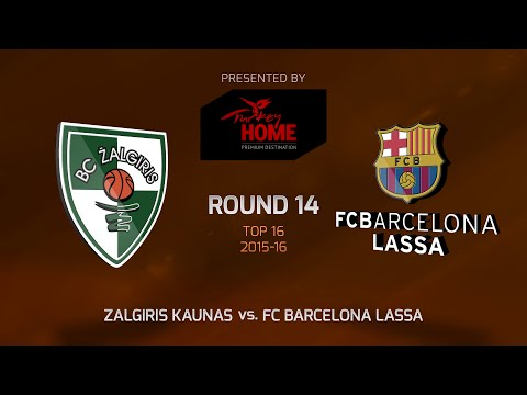 Highlights: Top 16, Round 14, Zalgiris Kaunas 59-66 FC Barcelona Lassa