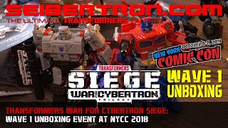 7. Transformers War for Cybertron SIEGE Wave 1 Unboxing Event at NYCC 2018