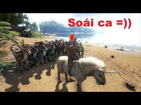 ARK: Survival Evolved - Dẫn 100 con khủng long Raptor đi càn quét thế giới =)) - Thời lượng: 52:36.