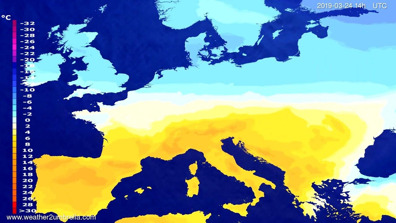#Weather_Forecast// Temperature forecast Europe 2019-03-22