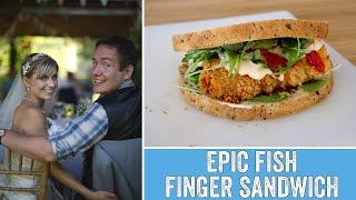 The Wedding Day Food we never tried - Epic Fish Finger Sandwich! by  My Virgin Kitchen