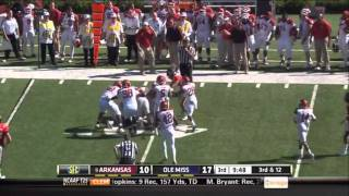 Jake Bequette vs Ole Miss 2011