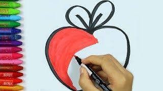 Download Video كيفية رسم أبل 🍎 | أبل تلوين الصفحات | أبل اللوحة | تعلم التلوين-كيفية رسم ولون الاطفال التلفزيون MP3 3GP MP4