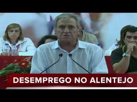 8ªASSEMBLEIA PCP ÉVORA: JERÓNIMO DE SOUSA FALA SOBRE DESEMPREGO NO ALENTEJO