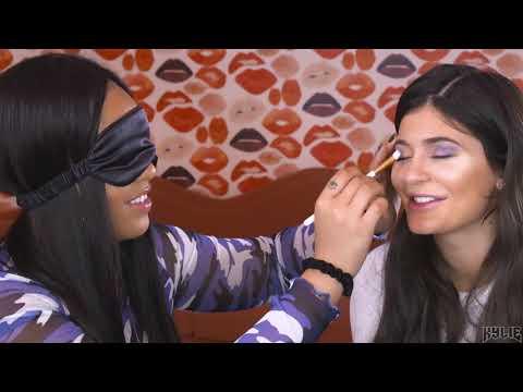 Blindfolded Makeup Challenge   Jordyn Does Kylie's Makeup While Blindfolded
