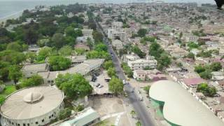 BEAUTIFUL BANJUL DRONE SHOT THE GAMBIA.