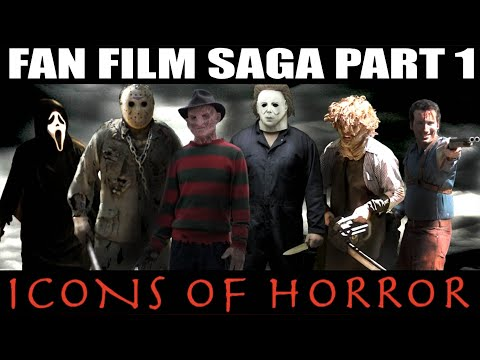 Jason - FAN FILM SAGA PART 1: ICONS OF HORROR | Freddy Krueger vs Jason Voorhees vs Michael Myers vs Ghostface vs Leatherface vs Ash Williams Director Russell, head ...