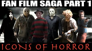Download Lagu Freddy vs Jason vs Michael Myers vs Leatherface vs Ghostface vs Ash Williams ICONS OF HORROR 1 Mp3