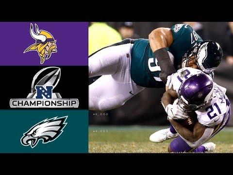 Vikings vs. Eagles | NFL NFC Championship Game Highlights (видео)