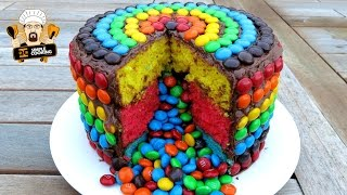 M&M RAINBOW PIÑATA CAKE - YouTube