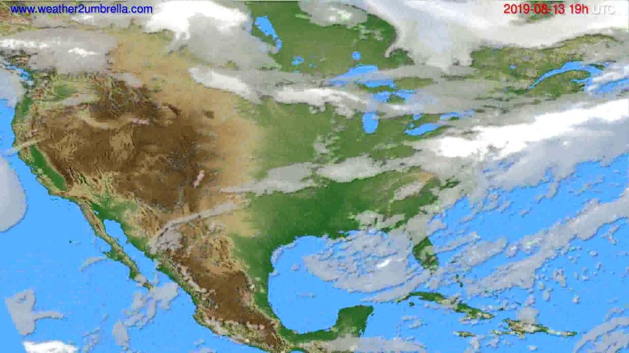 Cloud forecast USA & Canada // modelrun: 12h UTC 2019-08-10