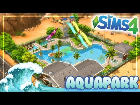 Mr.olkan's Water Park || The Sims 4 Speed Community Lot Build Aquapark