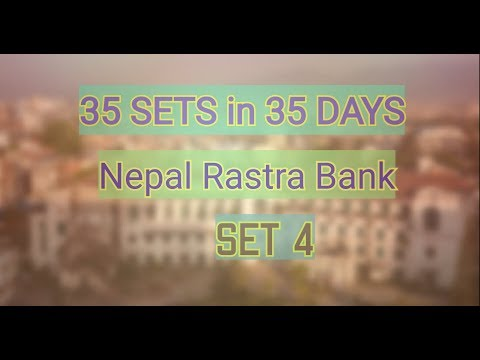 (35 sets in 35 days for Nepal Rastra Bank Set 4|| Important for all competitive exams - Duration: 5 minutes, 38 seconds.)