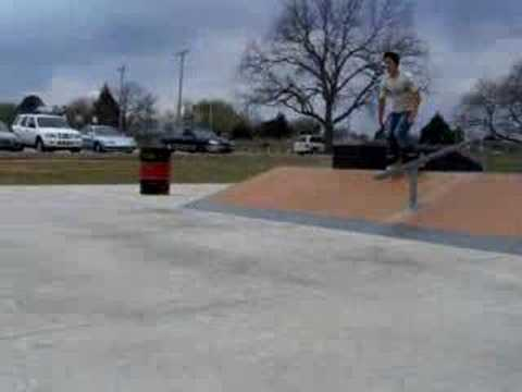 Backflip at tecumseh skatepark