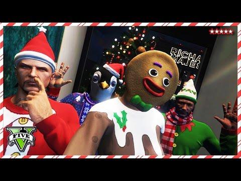 GTA 5 XMAS DLS Funny Moments – EPIC STUNTS & RACES! – 12 Days Of Christmas GTA V