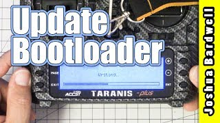 Please consider supporting me via Patreon at: https://www.patreon.com/thedroneracingengineerIn the first video in this playlist, I showed you how to upgrade your Taranis to OpenTX 2.2.0. But I left a step out. I forgot to show you how to update your bootloader. Here's how.--- RESOURCES ---The rest of this playlist: https://www.youtube.com/playlist?list=PLwoDb7WF6c8kLrGADjuxJUm5M2szXd_j8Nitbeat FPV's guide which got me started - http://www.nitbeatfpv.com/frsky-taranis-pid-settingsOpenTX 2.2 Download - http://www.open-tx.org/2017/05/30/opentx-2.2.0Betaflight Lua Scripts - https://github.com/betaflight/betaflight-tx-lua-scripts/releasesAmber sound pack compatible with OpenTX 2.2 is here: https://goo.gl/rb7Vbd--- SHOPPING ---Here are some stores where you can buy this radio:Banggood - https://goo.gl/I651r7 - This is an affiliate link. If you use it, I will get a small percentage of your purchase. But yeah, I know, you're kind of rolling the dice with customer support, so I forgive you if you don't use it.GetFPV - https://goo.gl/CHs5C1 - This is also an affiliate link.Aloft Hobbies - https://goo.gl/32BdFHHeliDirect - https://goo.gl/Juf0ahThe colored nuts that I installed are here: https://goo.gl/yRsSTUThe silicone switch covers are here: https://goo.gl/AWWsUZ