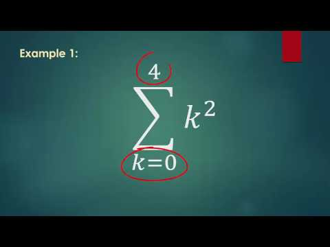 Using the summation symbol