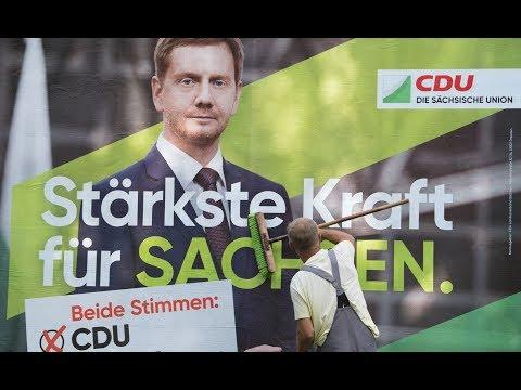 Sachsen: Die CDU führt nur hauchdünn vor der AfD, SPD nur einstellig