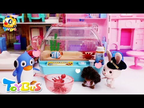 Rudolph's Playful Fish Toy  Birthday Party, Ice Cream  Play Doh for Kids  Robocar Poli  ToyBus