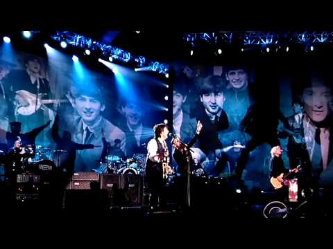 Sgt. Pepper - Paul and Ringo sings Sgt. Pepper's/A Little Help from My Friends during Grammy Salutes the Beatles.