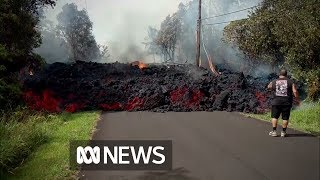 Hawaiian lava flows 'faster than a turtle' | ABC News