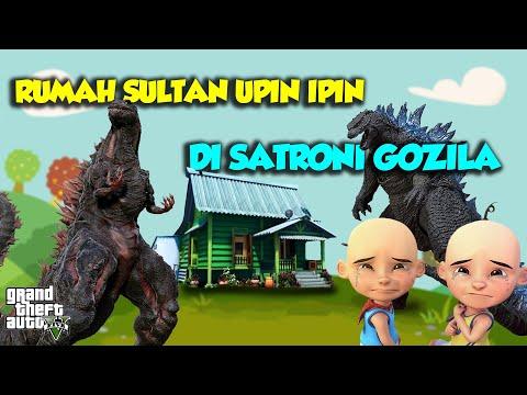 Rumah Sultan Upin Ipin di serbu GOZILA SEREM - GTA V Upin Ipin Episode Terbaru 483