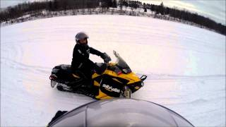4. Ski Doo etec: 800 vs 600 drag race 1.16.15