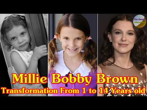 Millie Bobby Brown transformation from 1 to 14 years old