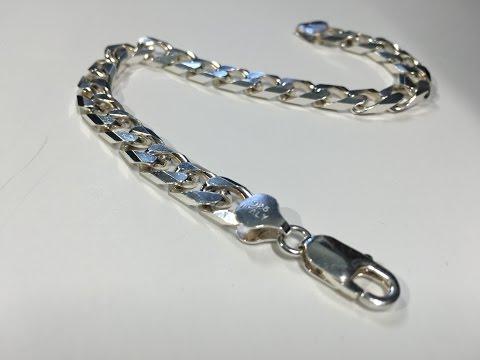 Sterling Silver (925) Cuban Bracelet