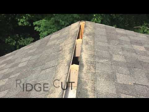 User submitted video. Owens Corning VentSure 4 ft  Strip Heat and Moisture Ridge Vent