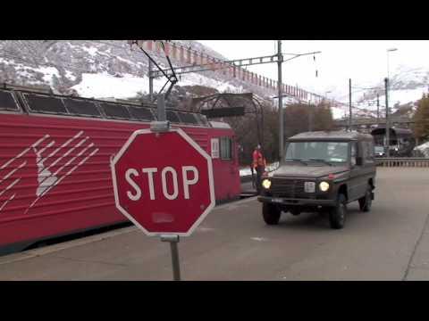 Alpine Narrow Gauge car train
