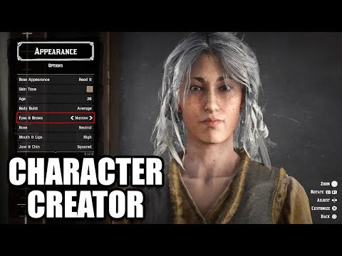 Character Creation - All Male and Female Customization de Red Dead Redemption 2