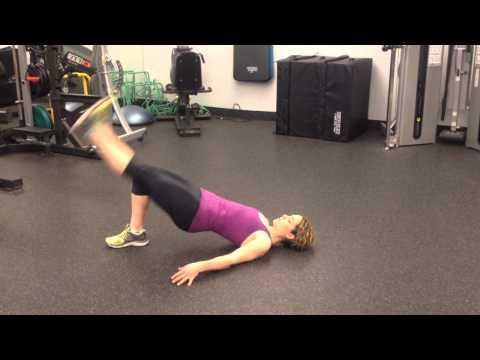 Exercises for Runners: Single-Leg Bridge Lift with Leg Lowers
