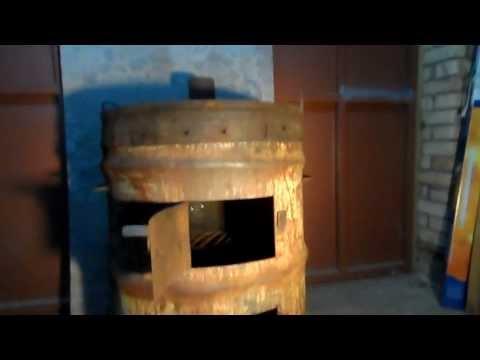 Дровяная печь в гараж своими руками