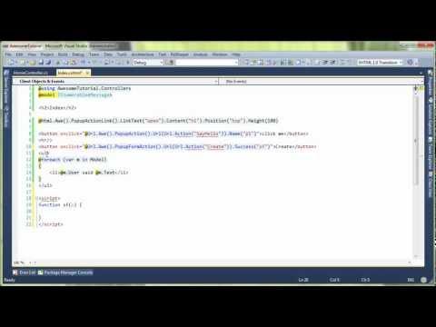 ASP.net MVC Awesome - Popup, PopupForm, AjaxForm…