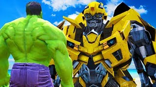 Video THE HULK VS BUMBLEBEE (Transformers) - EPIC BATTLE MP3, 3GP, MP4, WEBM, AVI, FLV Juli 2018