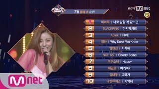 M COUNTDOWN|Ep.5327월 둘째 주 TOP10TOP10 of the weekWorld No.1 Kpop Chart Show M COUNTDOWN Every Thur 6PM(KST) Mnet Live on Air 매주 목요일 저녁 6시 엠넷 생방송