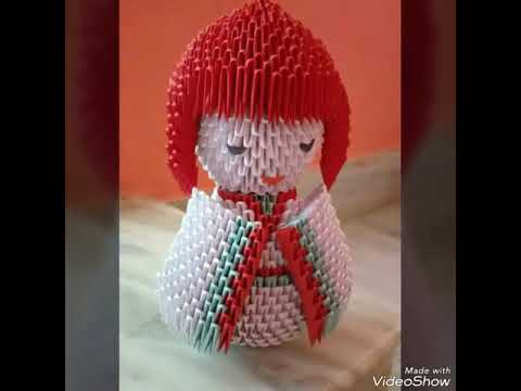Tutorial- How To Make 3d Origami Japanese Doll