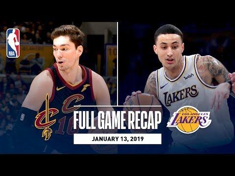Video: Full Game Recap: Cavaliers vs Lakers | Kuzma Scores 29 Points