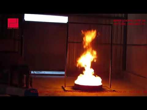 Test bình cầu chữa cháy tự động 8kg