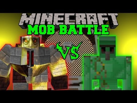 BIG GOLEM VS EMERALD GOLEMS - Minecraft Mob Battles - Mo' Creatures Mods