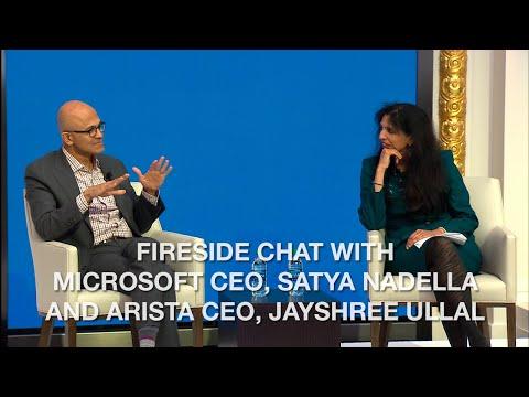 Fireside Chat with Microsoft CEO, Satya Nadella and Arista CEO, Jayshree Ullal