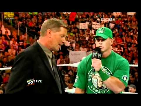John Cena making fun of john laurinaitis and make him crazy very funny video