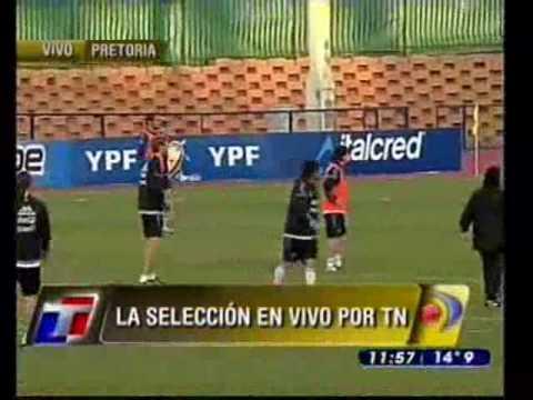 Sensacional gol de Ariel Garcé entrenando con Argentina